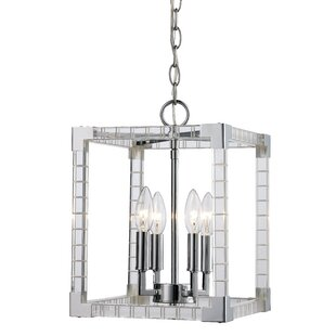 Renhold 4-Light Square/Rectangle Pendant by Mercer41