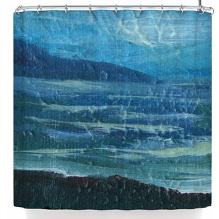 Cyndi Steen Moolight Beach Single Shower Curtain