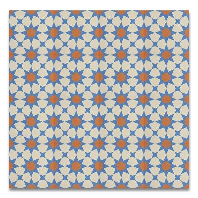 SAMPLE - Medina Cement Field Tile Color: Blue/White/Orange