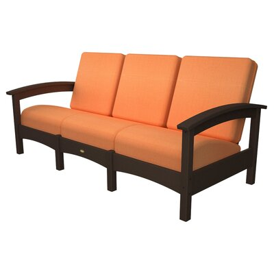 Trex Outdoor Rockport Club Sofa Colour: Vintage Lantern / Tangerine