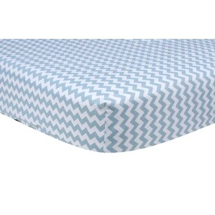 Best Choices Sky Chevron Fitted Crib Sheet By Trend Lab