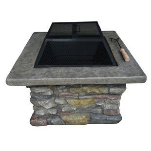 Loon Peak Davey Wood Burning Fire Pit Table