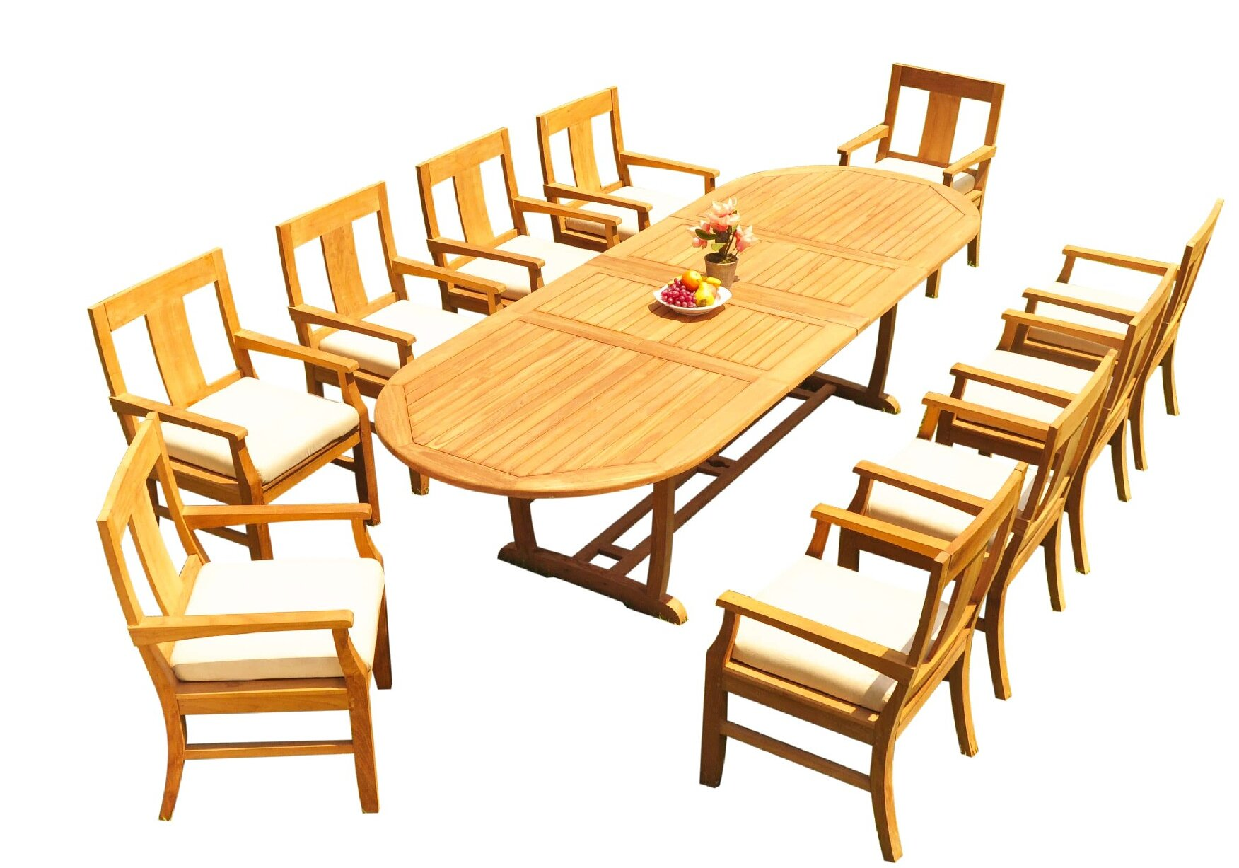 Cushionless Teak Patio Dining Sets You Ll Love In 2021 Wayfair