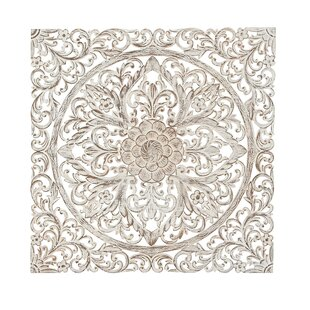 39c1492d2f Traditional Carved Floral Medallion Wall Decor