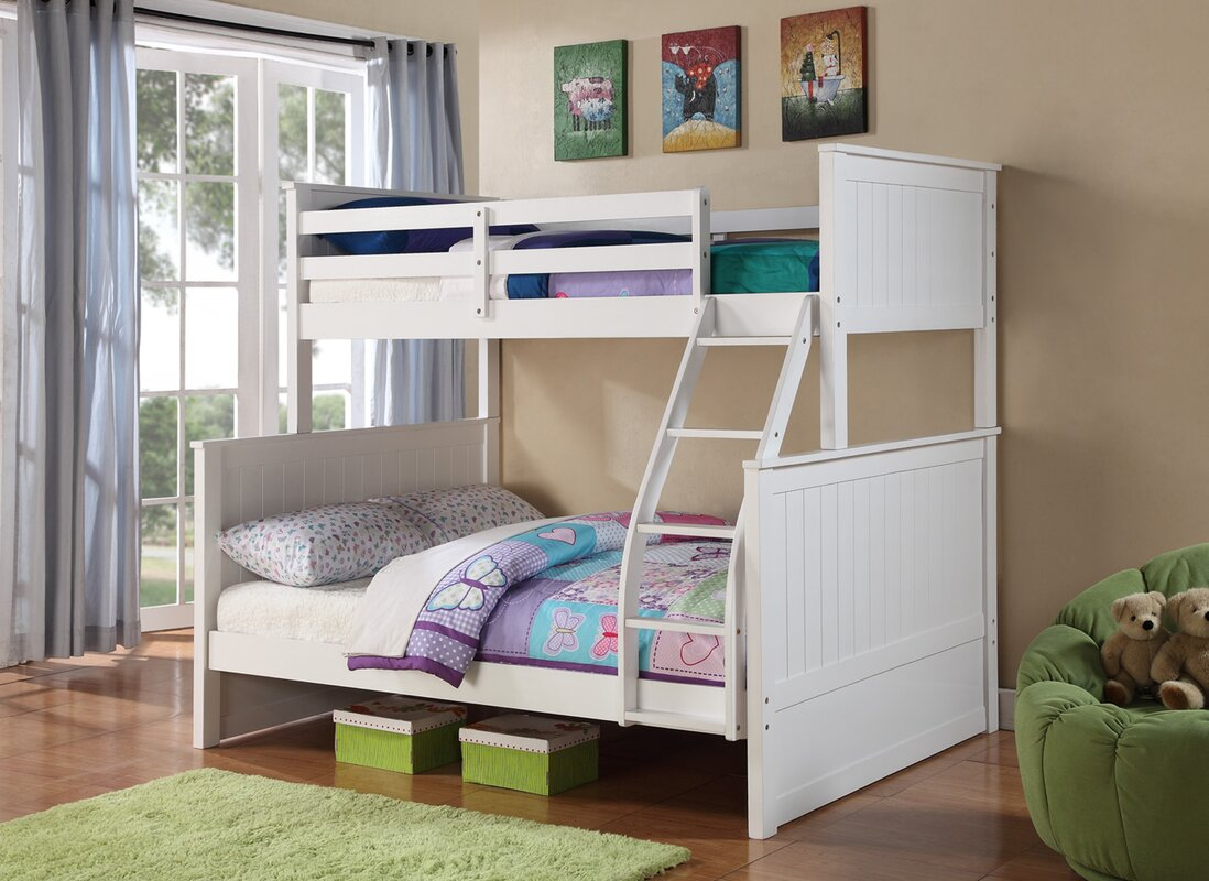 Ciera+Twin+over+Full+Loft+Bunk+Bed harriet bee ciera twin over full loft bunk bed & reviews wayfair