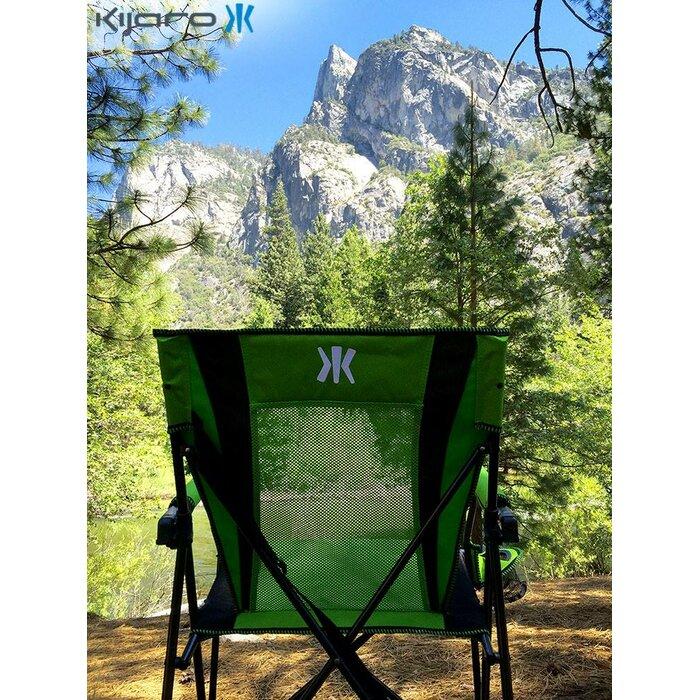 Kijaro XXL Double Lock Portable Camping Sports et chaise Irlande Vert