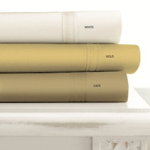 500 Thread Count 4-Piece Egyptian Quality Cotton Ivory Sheet Set By Tribeca Living