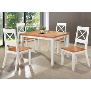 Benner Dining Set With 4 Chairs (Set Of 5) By Brambly Cottage