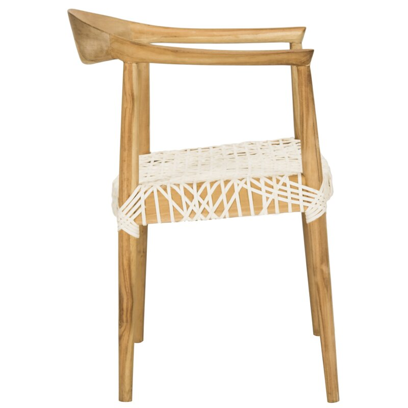 020ada26cc4d Albertina Genuine Woven Leather Dining Chair