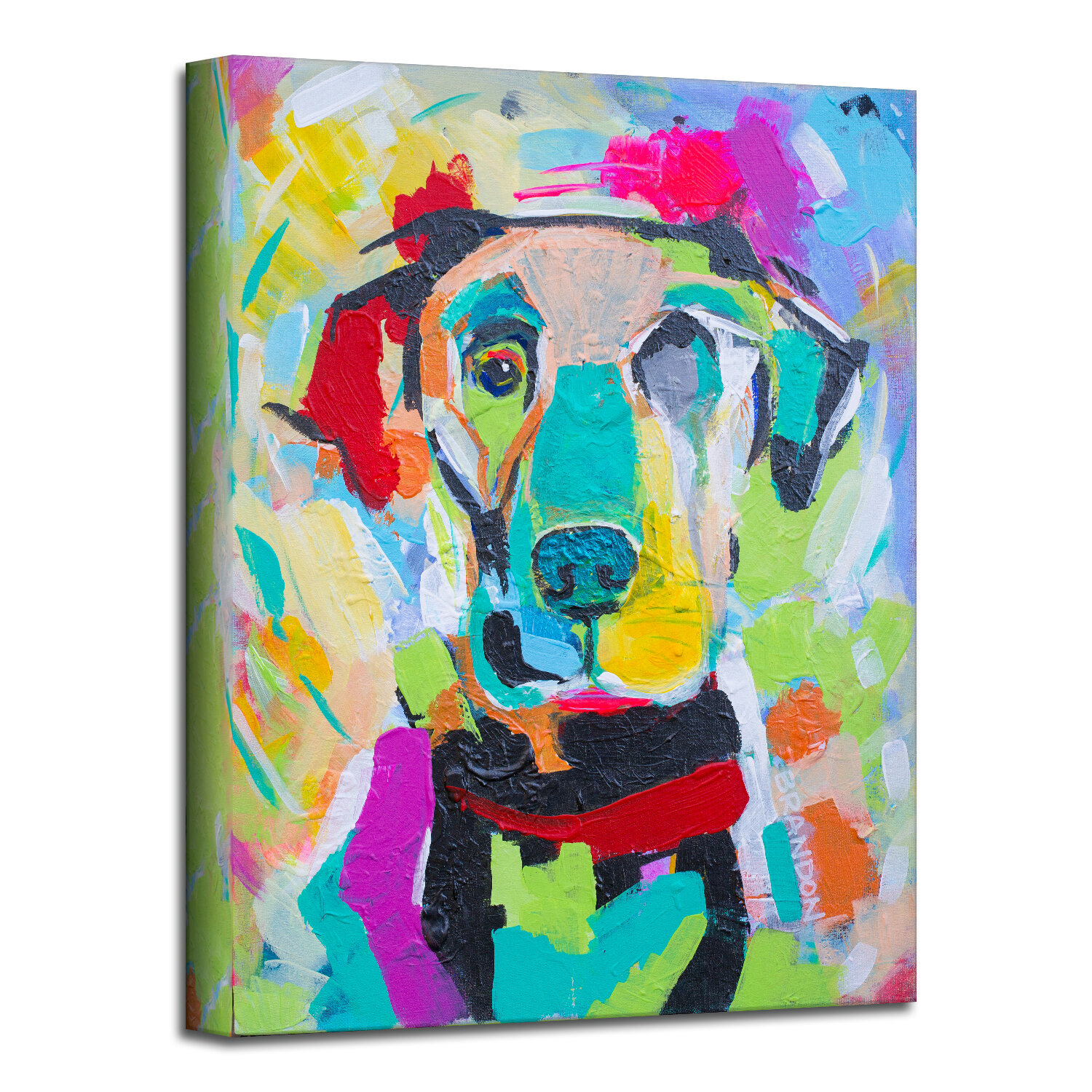 Winston Porter Colorburst Pup By Brandon Thomas Wrapped Canvas Painting Print Wayfair