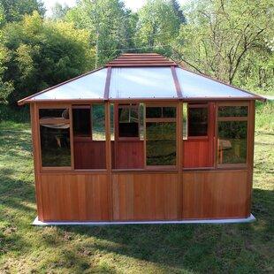 Solarus 10 5 Ft W X 12 D Solid Wood Patio Gazebo