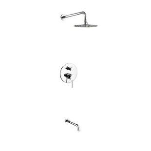 Rebrilliant Bustillos Diverter Tub and Shower Faucet with Valve