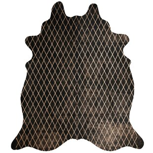 Online Reviews One-of-a-Kind Ralston Hand-Tufted Cowhide 6' X 7' Black/Copper Area Rug By Isabelline