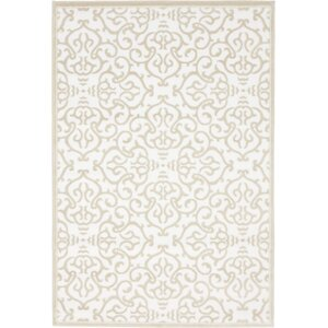 Mathieu Snow White/Beige Area Rug