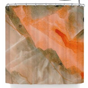 Mmartabc Watercolor Stains Single Shower Curtain