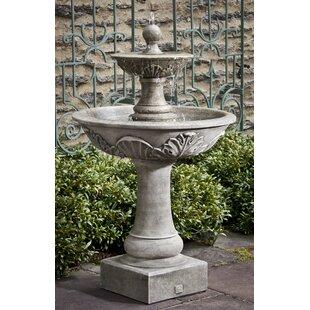 Campania International Concrete Acanthus 2 Tiered Fountain