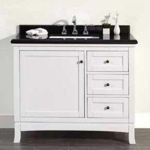 Sophia 42 Single Granite Top and Rectangular Basin Vanity Set by Ove Decors