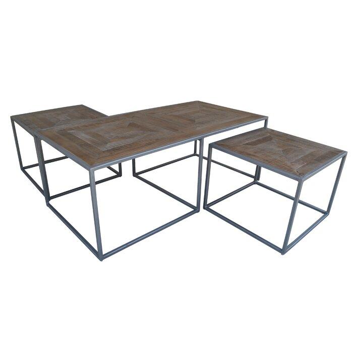 Caryn Nest 3 Piece Coffee Table Set
