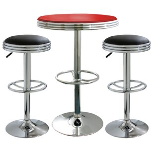 Southampton 3 Piece Adjustable Height Pub Table Set