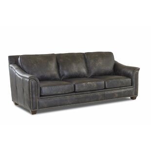 Sasha Leather Sofa by Foundry Select
