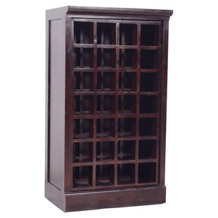 Sheena Teak 28 Bottle Floor Wine Cabinet