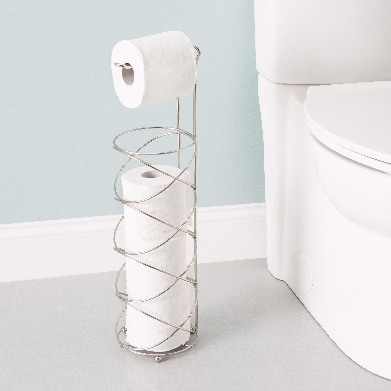 Latitude Run Alfonsina Free Standing Swirl Toilet Paper Holder Reviews Wayfair