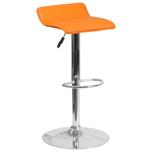 Noriega Adjustable Height Swivel Bar Stoo..