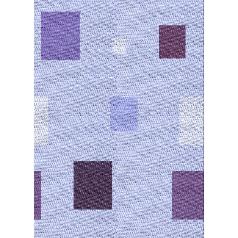 East Urban Home Geometric Wool Blue Purple Area Rug Wayfair