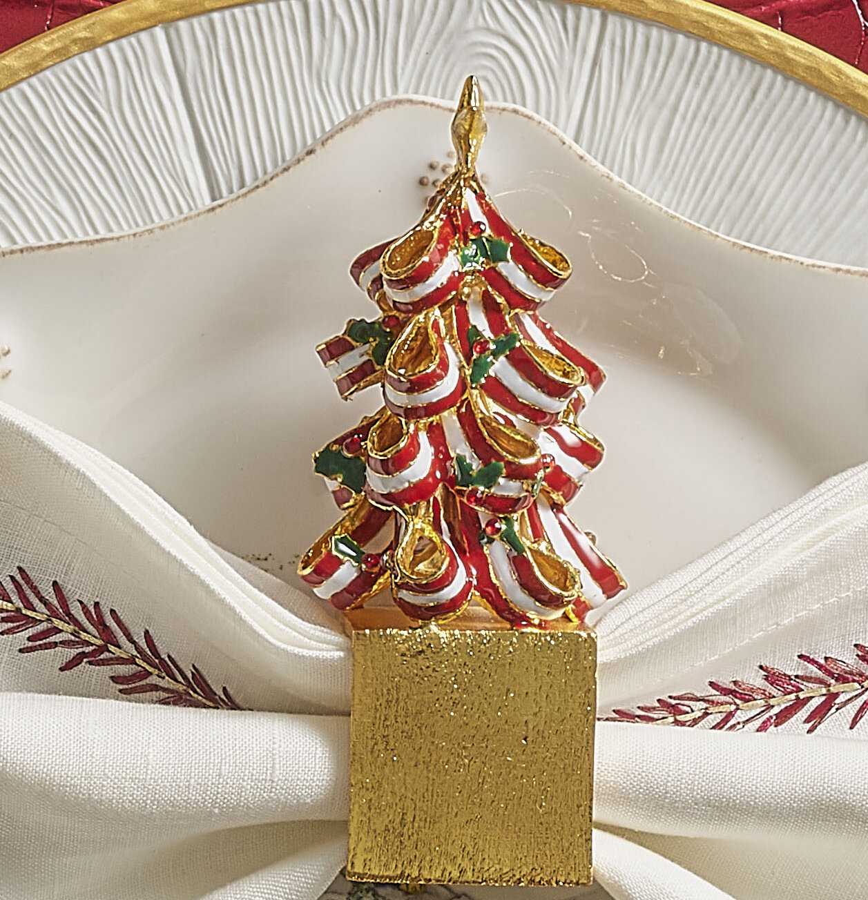 Kim Seybert Holiday Tree Napkin Ring Wayfair