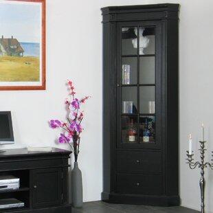 Amaretta Solid Wood Corner Display Cabinet By Rosdorf Park