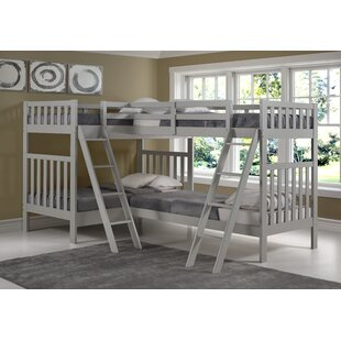 Crescent Twin Over Twin L-Shaped Bunk Bed by Harriet Bee