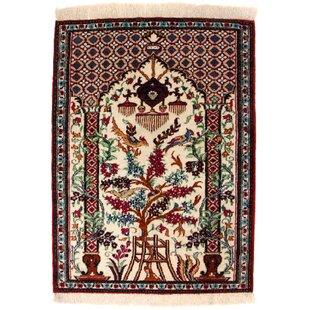 Tayeb Handwoven Silk Beige Indoor/Outdoor Rug By Bloomsbury Market