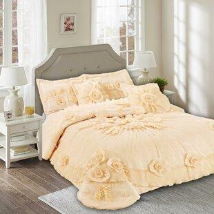 Tache Home Fashion Daffodil 6 Piece Comforter Set