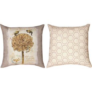 Natural Life Bee Bumble Throw Pillow