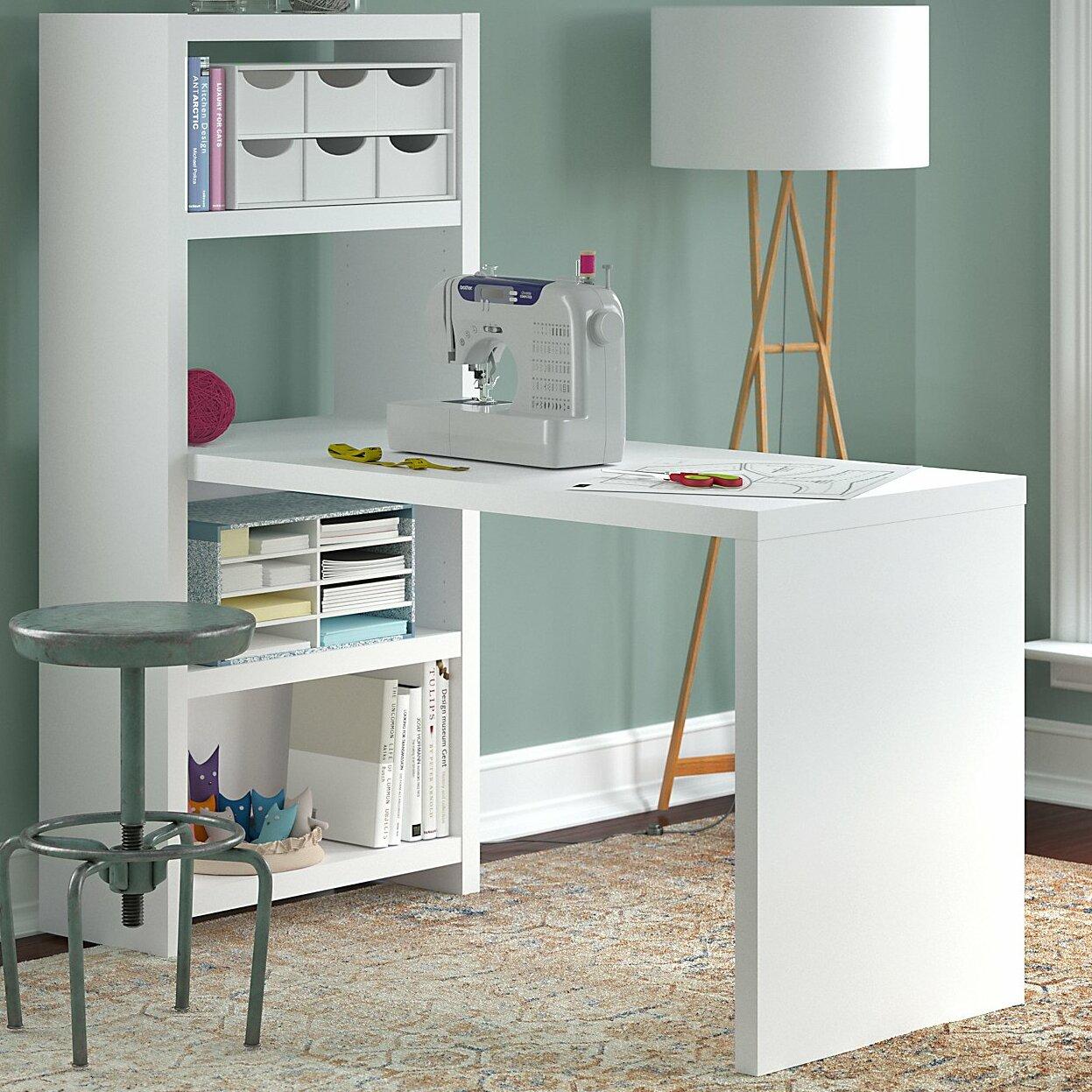Kathy Ireland Office by Bush Echo Wood Sewing Table & Reviews | Wayfair