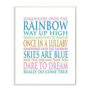 Over The Rainbow Art Wayfair