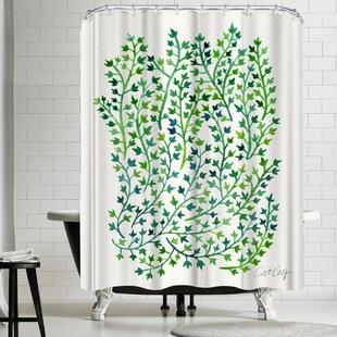 East Urban Home Greenivy Shower Curtain