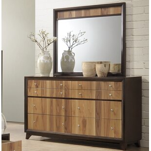 Drumack 8 Drawer Double Dresser with Mirror