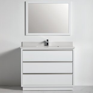 Arismendy 21 Single Bathroom Vanity Set with Mirror Set of 3