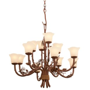 Kalco Ponderosa 8-Light Shaded Chandelier