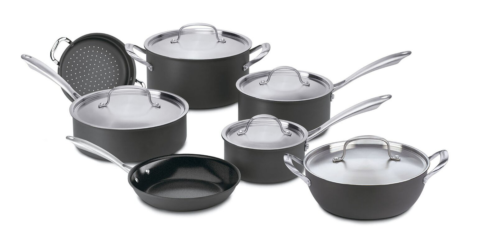 Cuisinart Cuisinart 12 Piece Hard-Anodized Aluminum Non Stick Cookware Set