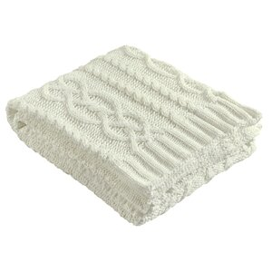 Chenille Chunky Cable Knit Throw