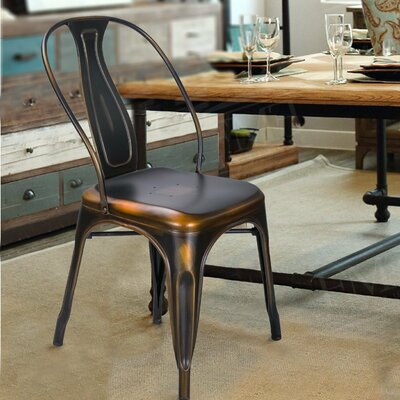 Sasha Vintage Stacking Dining Chair Laurel Foundry Modern Farmhouse Finish Copper