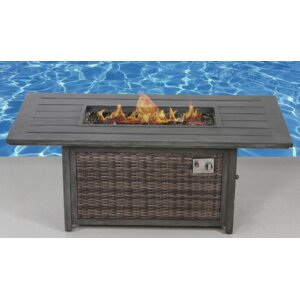 Aluminum Wood Burning Fire Pit Table