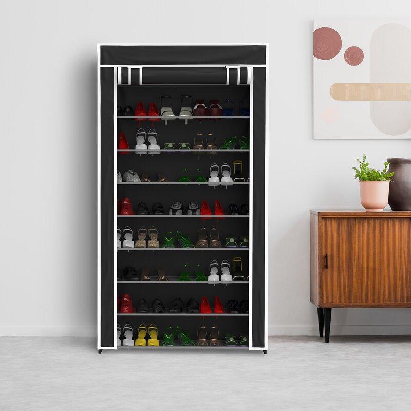 c275843d0 Rebrilliant 9-Tier 45 Pair Shoe Rack & Reviews | Wayfair