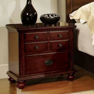 Kinser 2 Drawer Nightstand by Alcott Hill