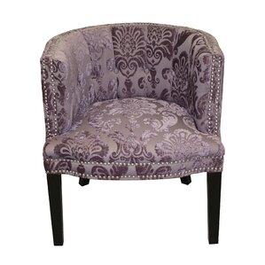 Bohemian Plum Fan Damask Barrel Chair by HD ..