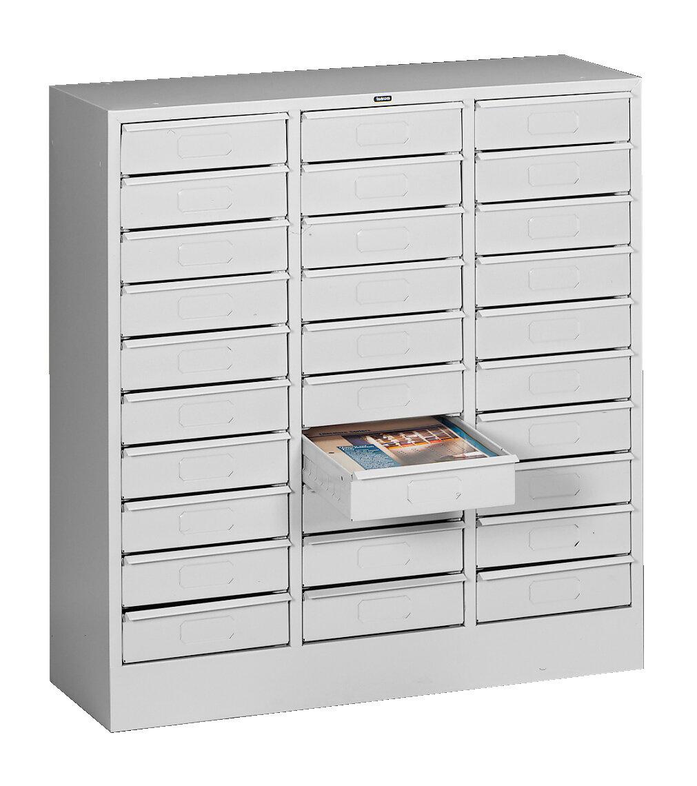 Tennsco 30 Drawer Organizer Filing Cabinet Wayfair