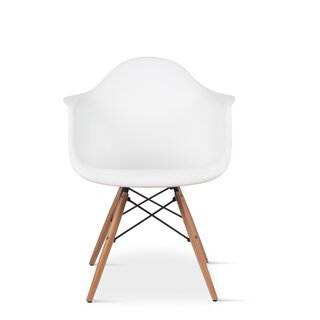 Argenziano Arm Chair in White (Set of 2) by Wrought Studio SKU:CC480230 Purchase