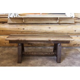 Abella Small Plank Style Wood Bench by Loon Peak